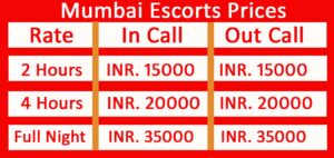 Mumbai Escorts Pricing